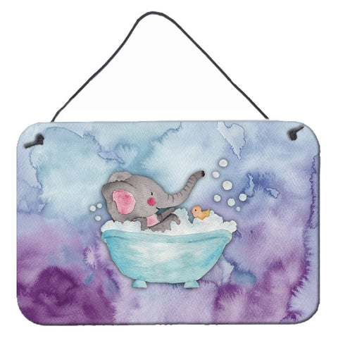 Buy this Elephant Bathing Watercolor Wall or Door Hanging Prints BB7346DS812