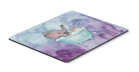 Buy this Elephant Bathing Watercolor Mouse Pad, Hot Pad or Trivet BB7346MP