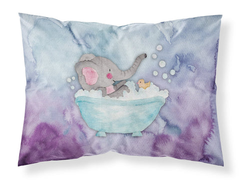 Buy this Elephant Bathing Watercolor Fabric Standard Pillowcase BB7346PILLOWCASE