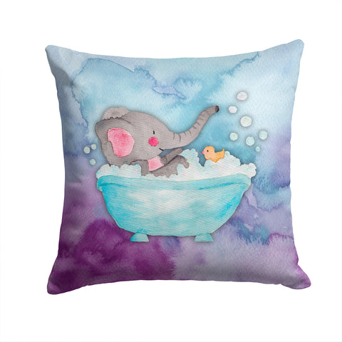 Buy this Elephant Bathing Watercolor Fabric Decorative Pillow BB7346PW1414