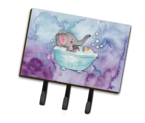 Buy this Elephant Bathing Watercolor Leash or Key Holder BB7346TH68