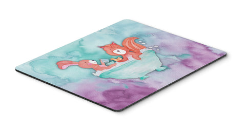 Buy this Rabbit and Squirrel Bathing Watercolor Mouse Pad, Hot Pad or Trivet BB7348MP