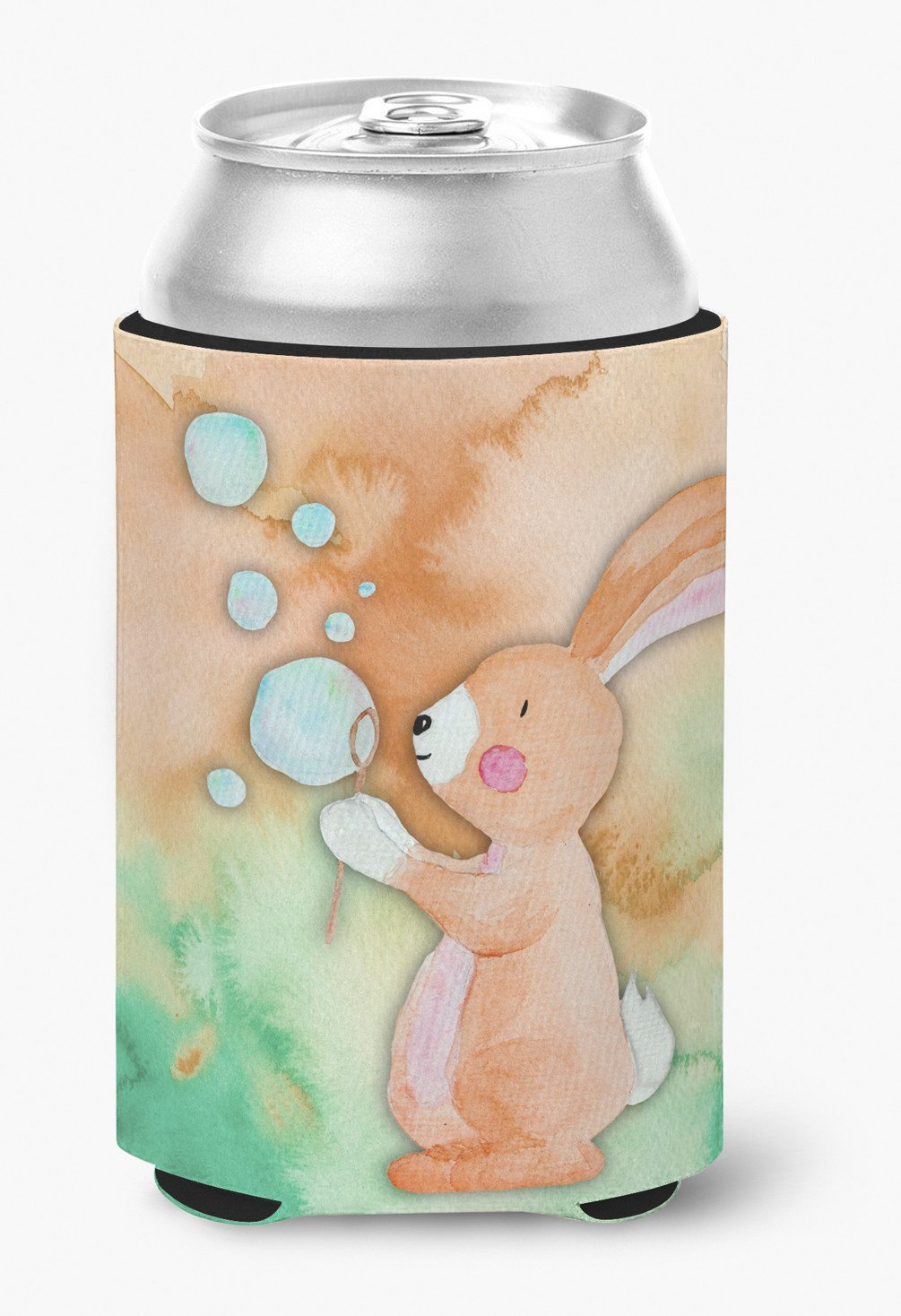 Rabbit and Bubbles Watercolor Can or Bottle Hugger BB7349CC by Caroline's Treasures