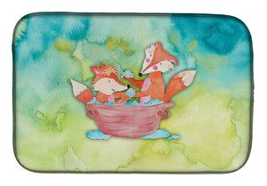 Buy this Foxes Bathing Watercolor Dish Drying Mat BB7350DDM
