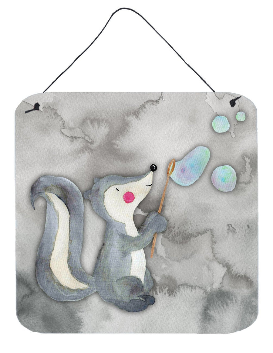 Buy this Skunk and Bubbles Watercolor Wall or Door Hanging Prints BB7352DS66
