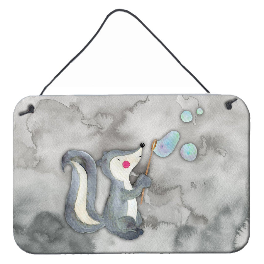 Buy this Skunk and Bubbles Watercolor Wall or Door Hanging Prints BB7352DS812