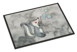 Buy this Skunk and Bubbles Watercolor Indoor or Outdoor Mat 24x36 BB7352JMAT