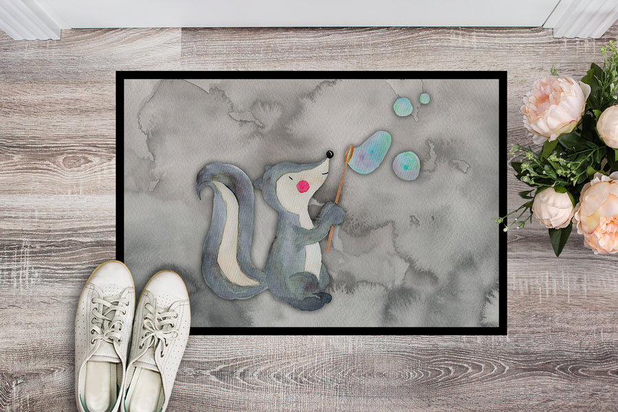 Buy this Skunk and Bubbles Watercolor Indoor or Outdoor Mat 18x27 BB7352MAT