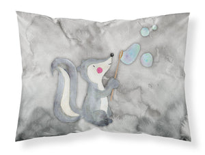 Buy this Skunk and Bubbles Watercolor Fabric Standard Pillowcase BB7352PILLOWCASE