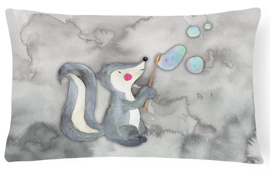 Buy this Skunk and Bubbles Watercolor Canvas Fabric Decorative Pillow BB7352PW1216