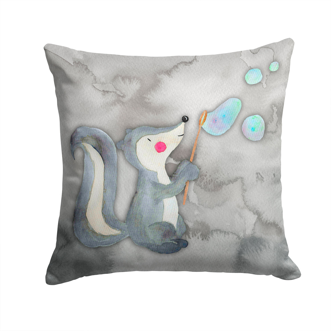 Buy this Skunk and Bubbles Watercolor Fabric Decorative Pillow BB7352PW1414
