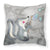 Skunk and Bubbles Watercolor Fabric Decorative Pillow BB7352PW1818 by Caroline's Treasures