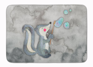 Buy this Skunk and Bubbles Watercolor Machine Washable Memory Foam Mat BB7352RUG