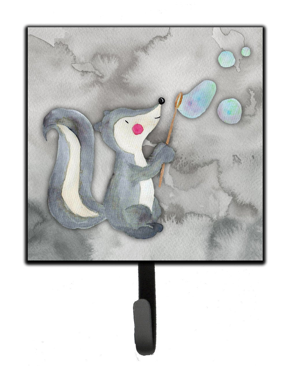 Skunk and Bubbles Watercolor Leash or Key Holder BB7352SH4 by Caroline's Treasures