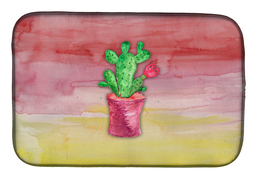 Buy this Flowering Cactus Watercolor Dish Drying Mat BB7361DDM