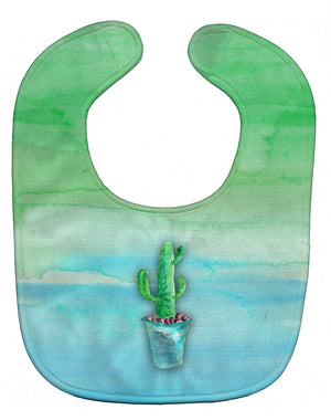 Buy this Cactus Teal and Green Watercolor Baby Bib BB7362BIB