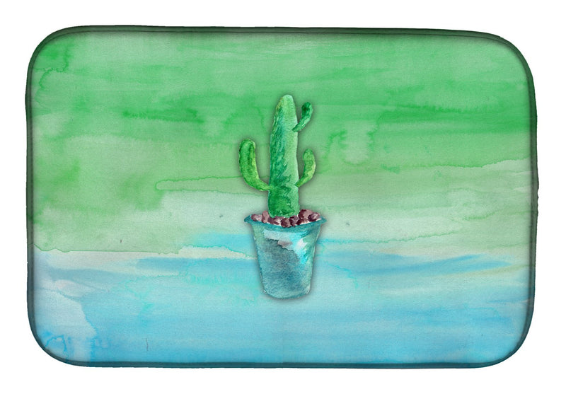 Buy this Cactus Teal and Green Watercolor Dish Drying Mat BB7362DDM