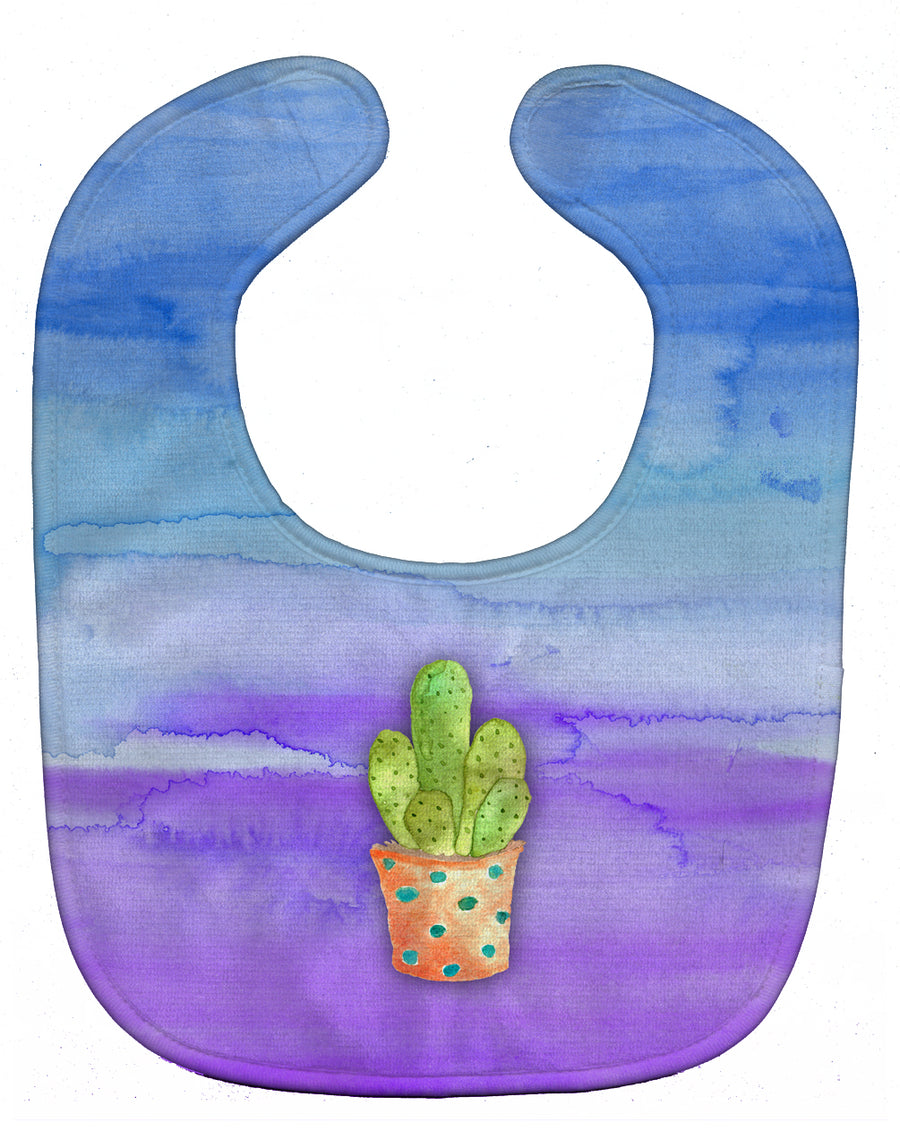 Buy this Cactus Blue and Purple Watercolor Baby Bib BB7363BIB