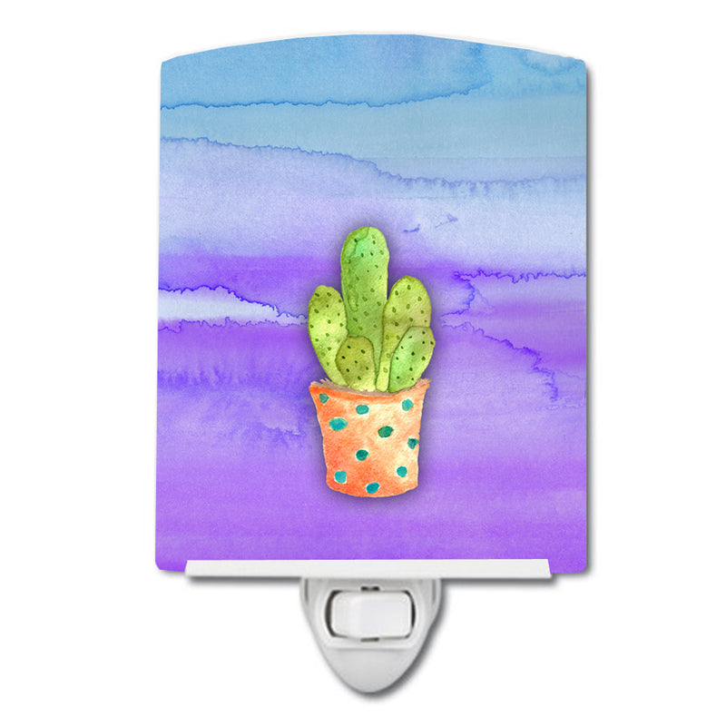 Buy this Cactus Blue and Purple Watercolor Ceramic Night Light BB7363CNL