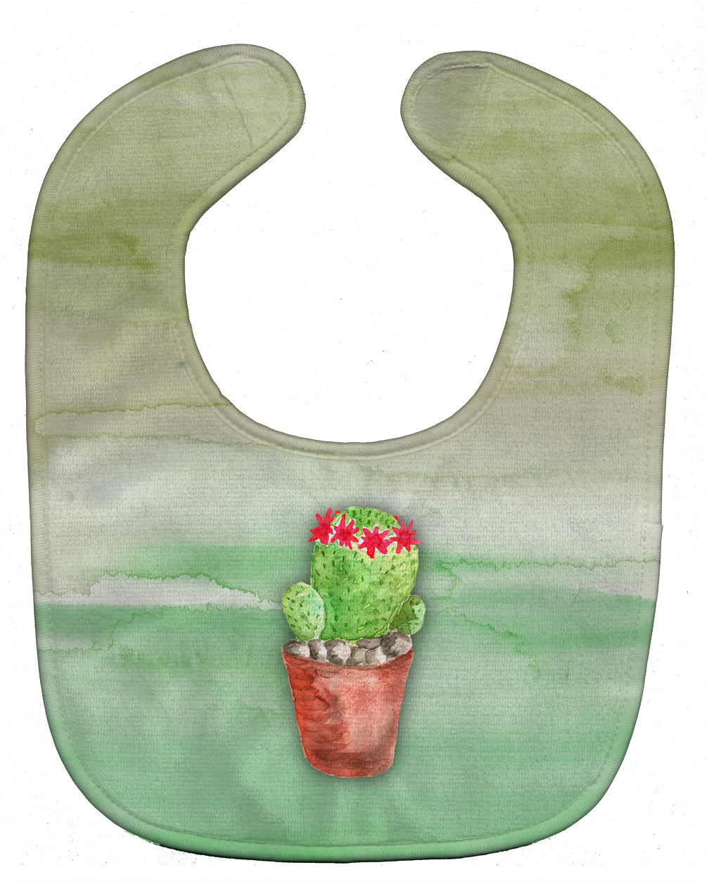 Buy this Cactus Green Watercolor Baby Bib BB7364BIB