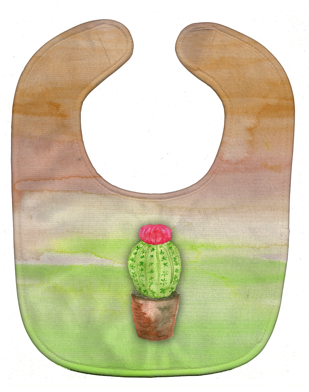 Buy this Cactus Green and Brown Watercolor Baby Bib BB7365BIB