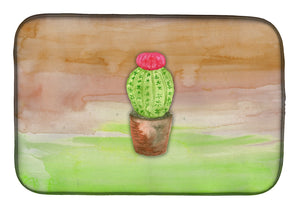 Buy this Cactus Green and Brown Watercolor Dish Drying Mat BB7365DDM