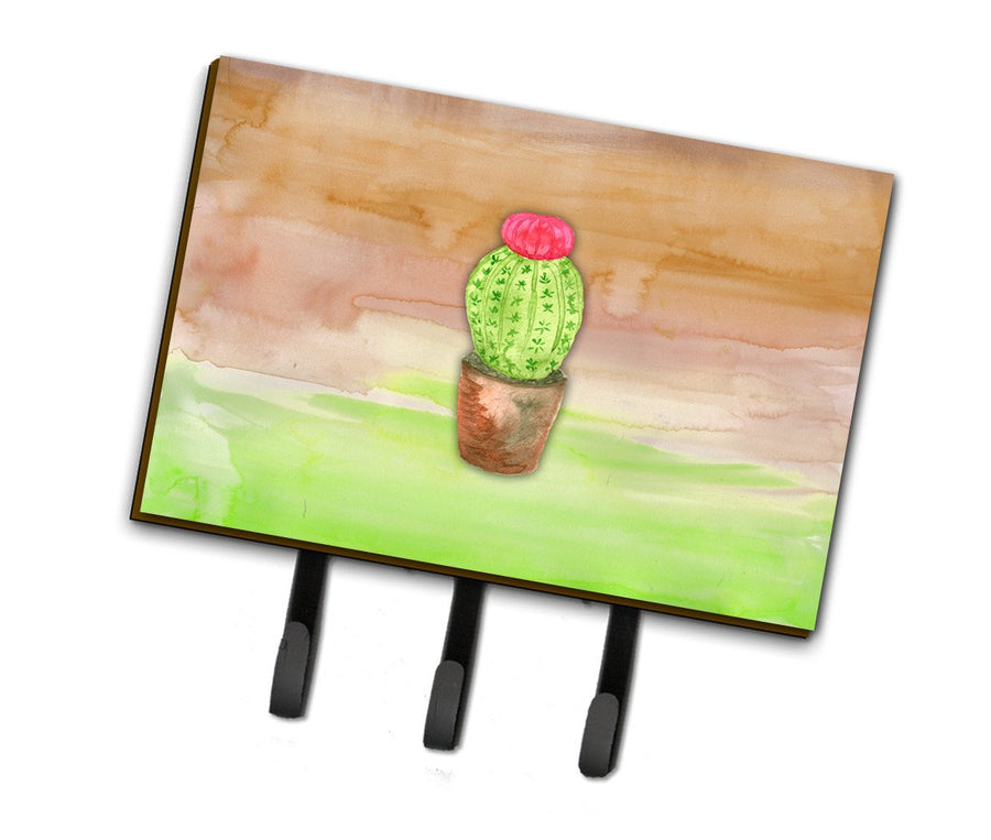 Buy this Cactus Green and Brown Watercolor Leash or Key Holder BB7365TH68