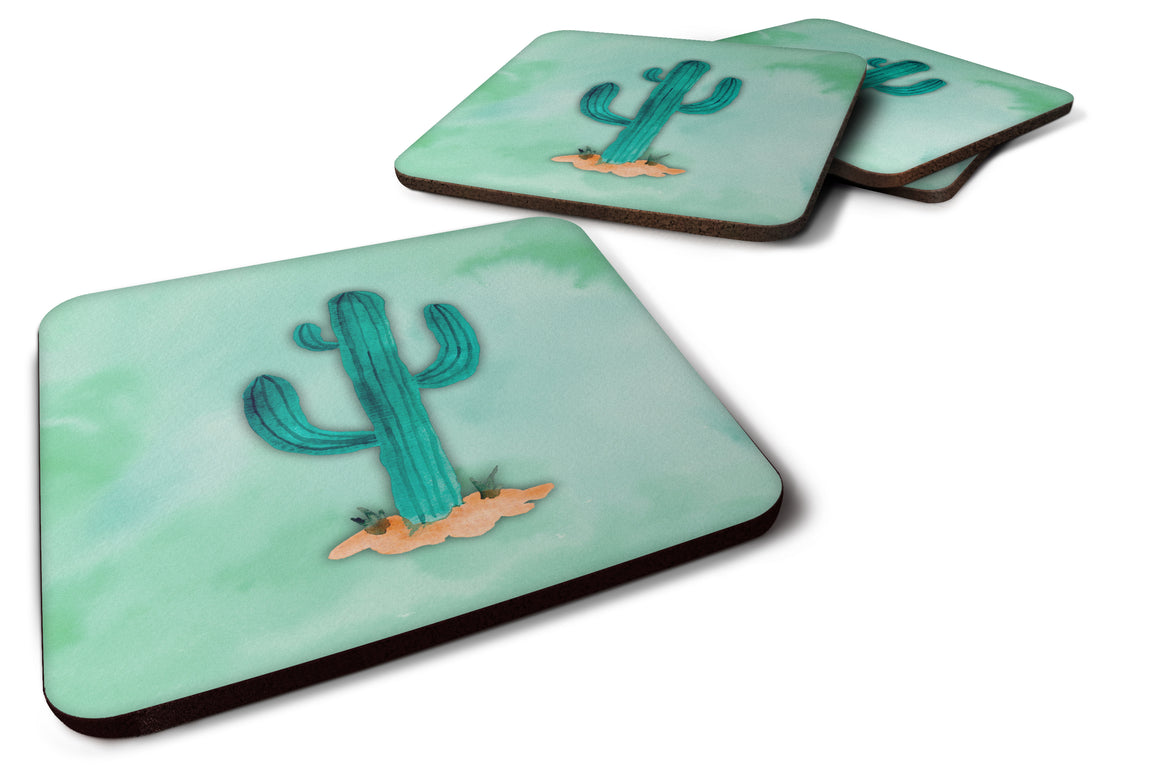 Buy this Western Cactus Watercolor Foam Coaster Set of 4 BB7369FC