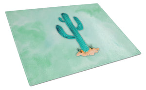 Buy this Western Cactus Watercolor Glass Cutting Board Large BB7369LCB