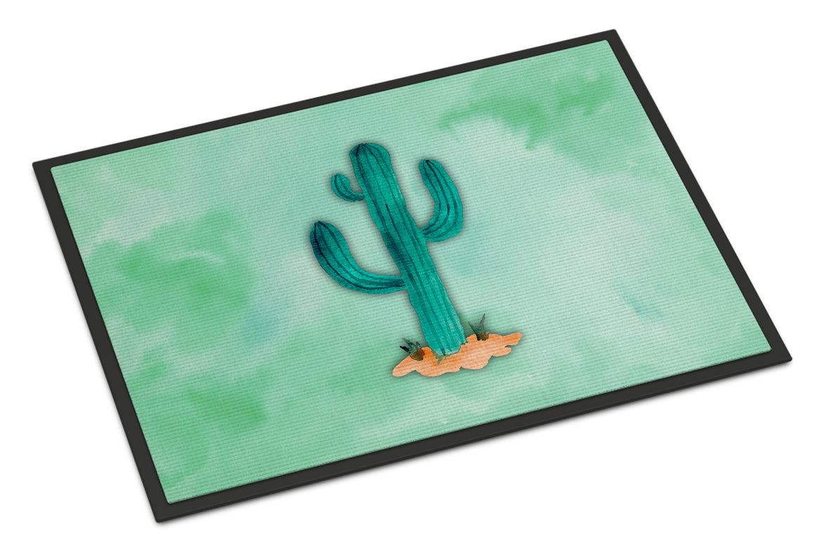 Buy this Western Cactus Watercolor Indoor or Outdoor Mat 18x27 BB7369MAT