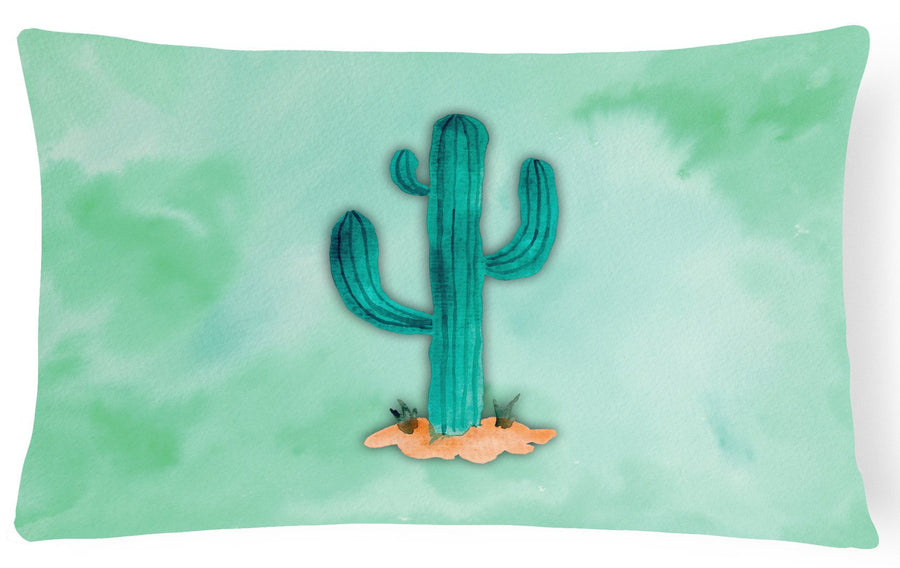 Buy this Western Cactus Watercolor Canvas Fabric Decorative Pillow BB7369PW1216
