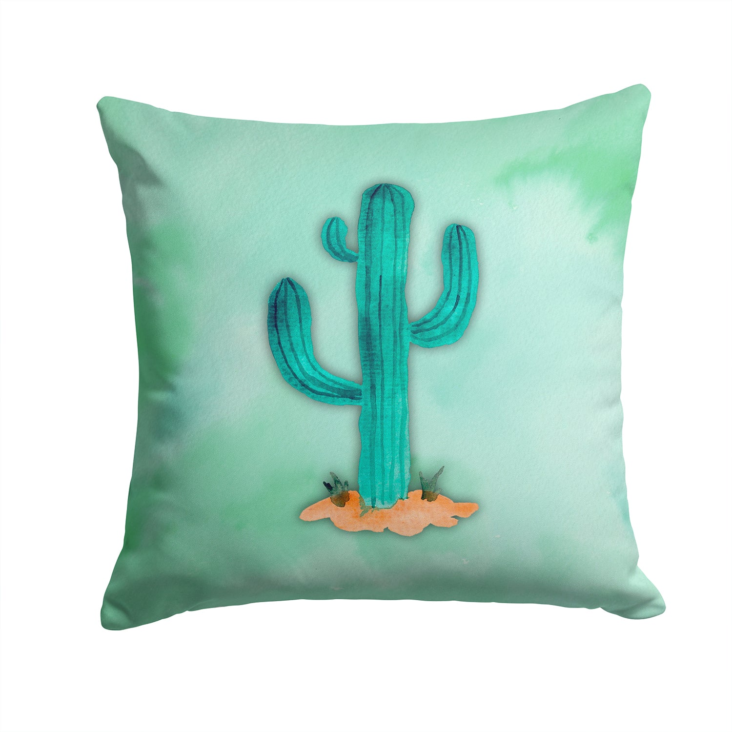 Buy this Western Cactus Watercolor Fabric Decorative Pillow BB7369PW1414