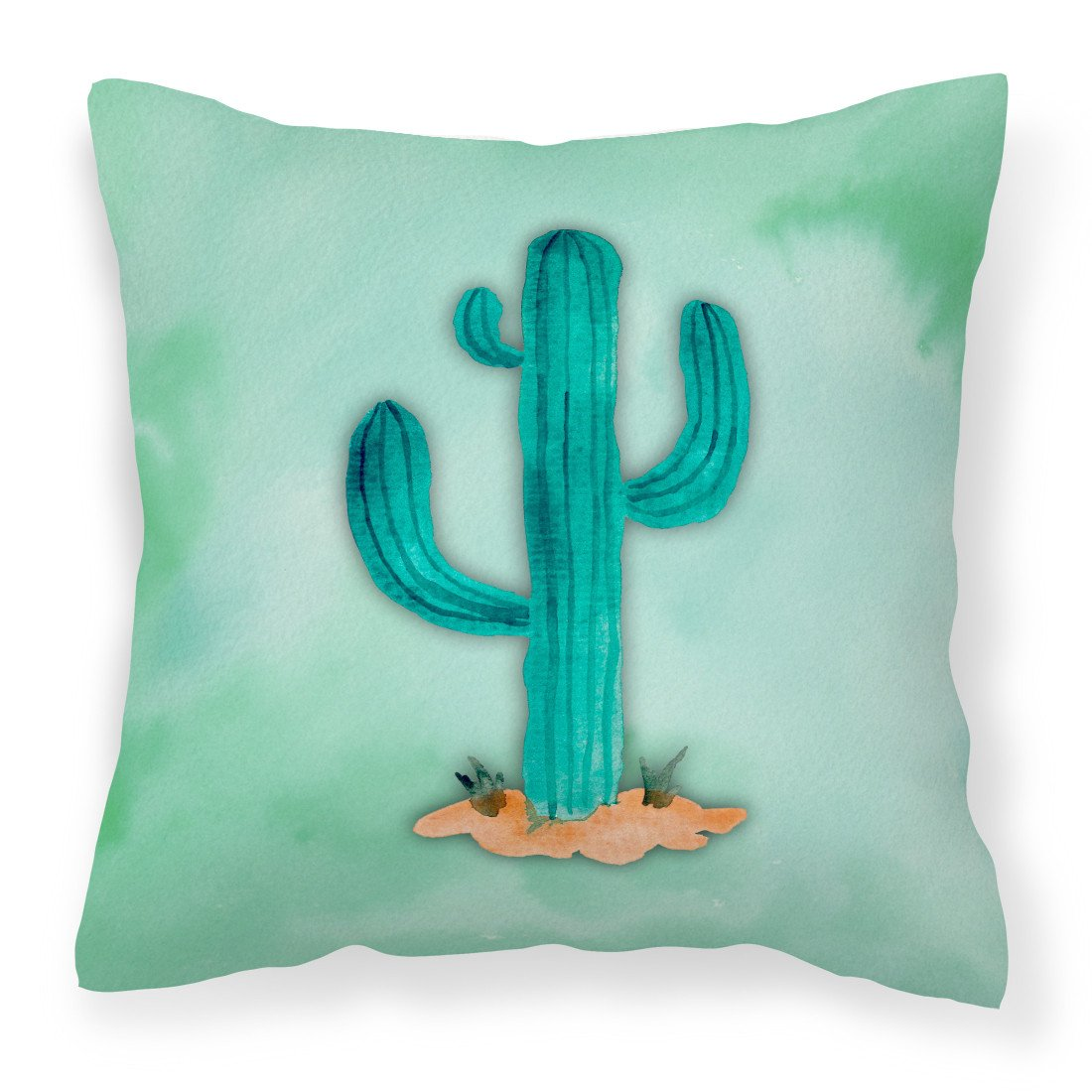 Buy this Western Cactus Watercolor Fabric Decorative Pillow BB7369PW1818