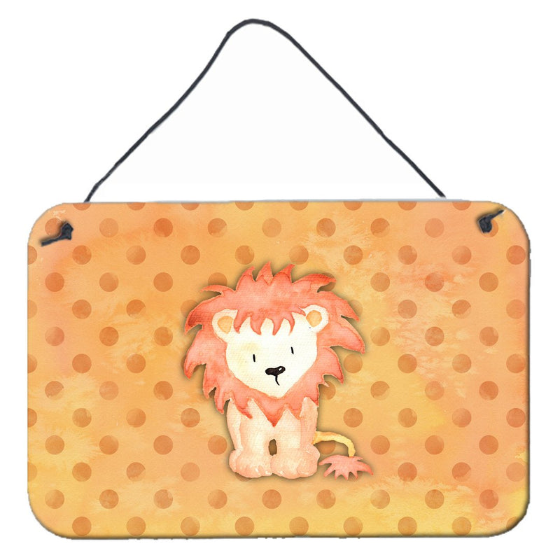 Buy this Polkadot Lion Watercolor Wall or Door Hanging Prints BB7374DS812