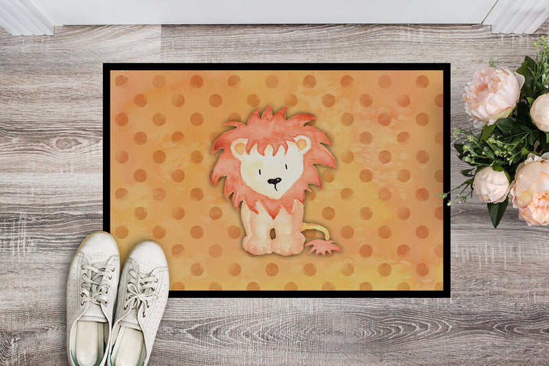 Buy this Polkadot Lion Watercolor Indoor or Outdoor Mat 18x27 BB7374MAT