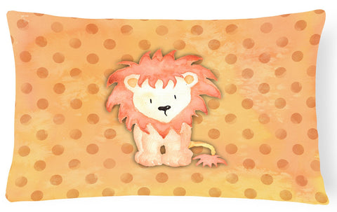 Buy this Polkadot Lion Watercolor Canvas Fabric Decorative Pillow BB7374PW1216