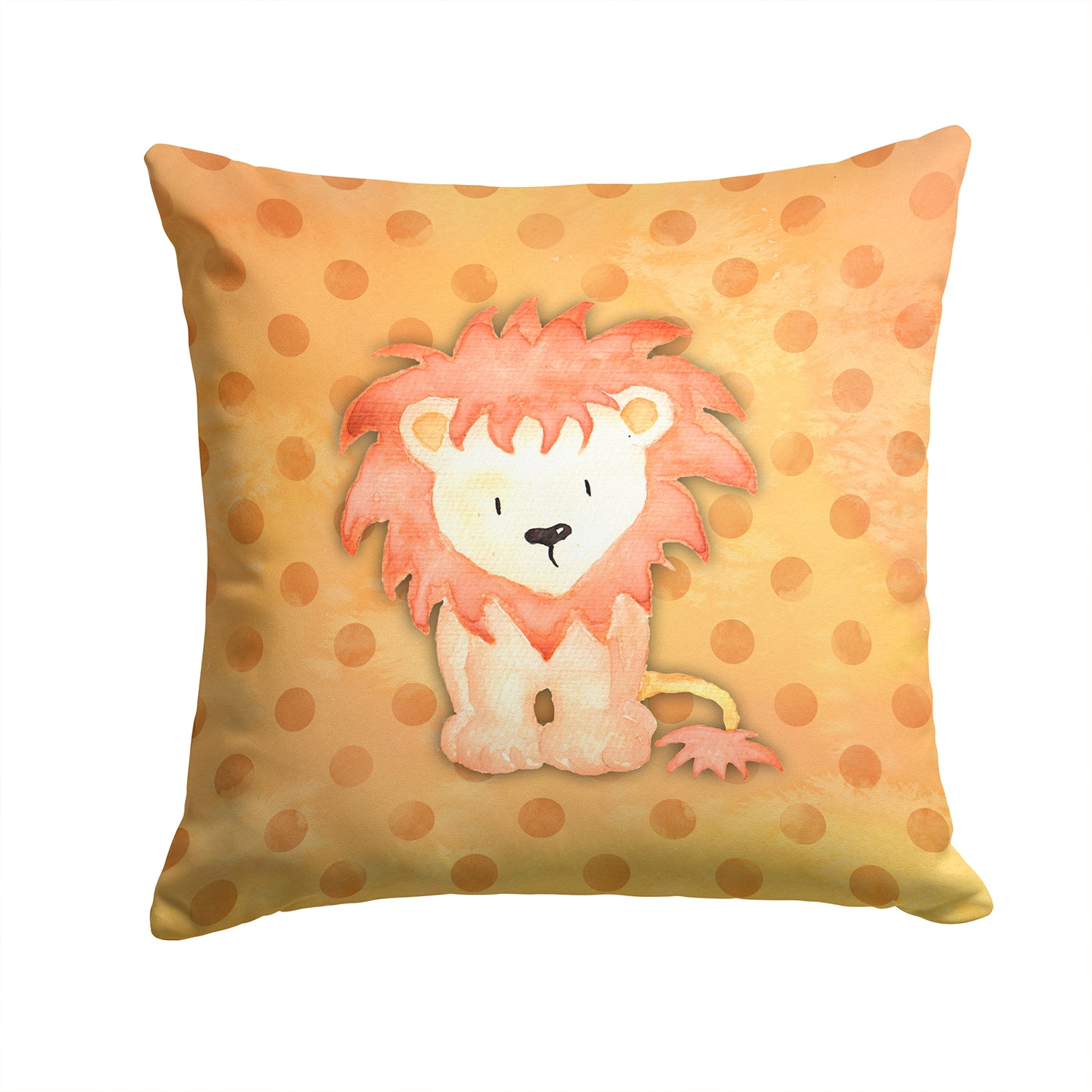 Buy this Polkadot Lion Watercolor Fabric Decorative Pillow BB7374PW1414