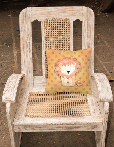 Polkadot Lion Watercolor Fabric Decorative Pillow BB7374PW1818