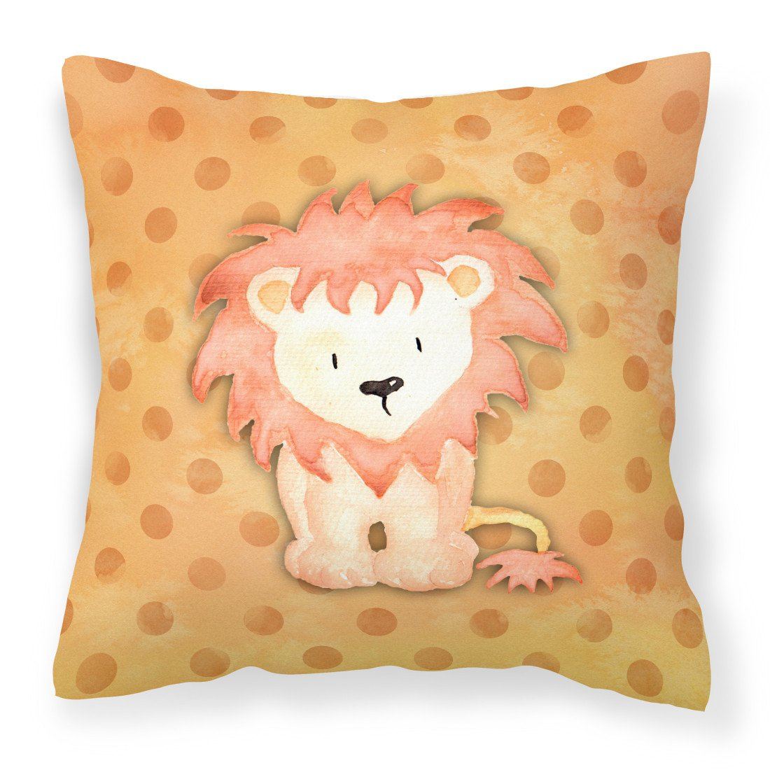 Polkadot Lion Watercolor Fabric Decorative Pillow BB7374PW1818 by Caroline's Treasures