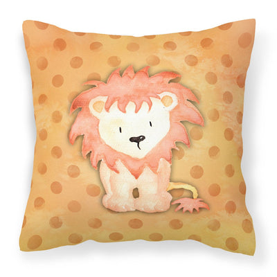 Buy this Polkadot Lion Watercolor Fabric Decorative Pillow BB7374PW1818