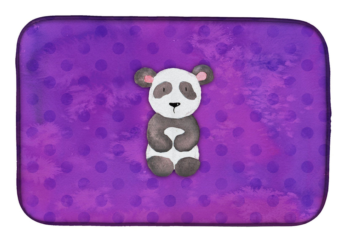 Buy this Polkadot Panda Bear Watercolor Dish Drying Mat BB7375DDM