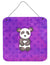 Polkadot Panda Bear Watercolor Wall or Door Hanging Prints BB7375DS66 by Caroline's Treasures