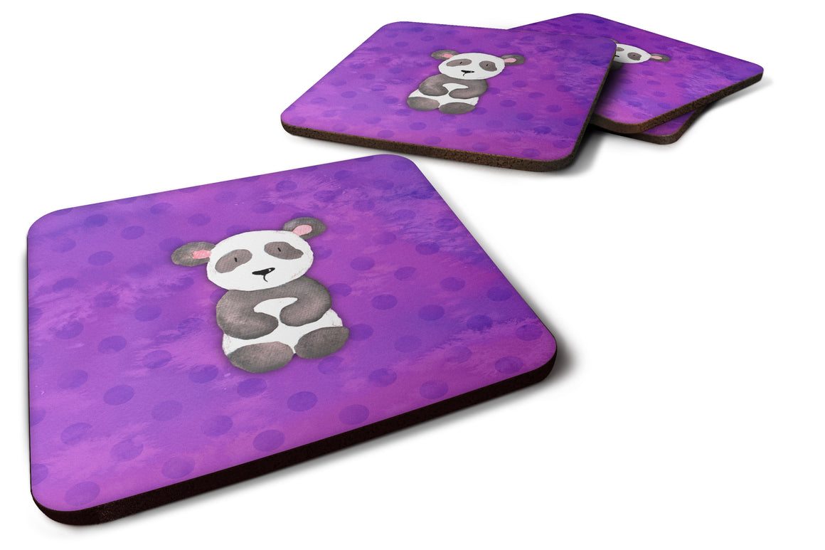 Buy this Polkadot Panda Bear Watercolor Foam Coaster Set of 4 BB7375FC