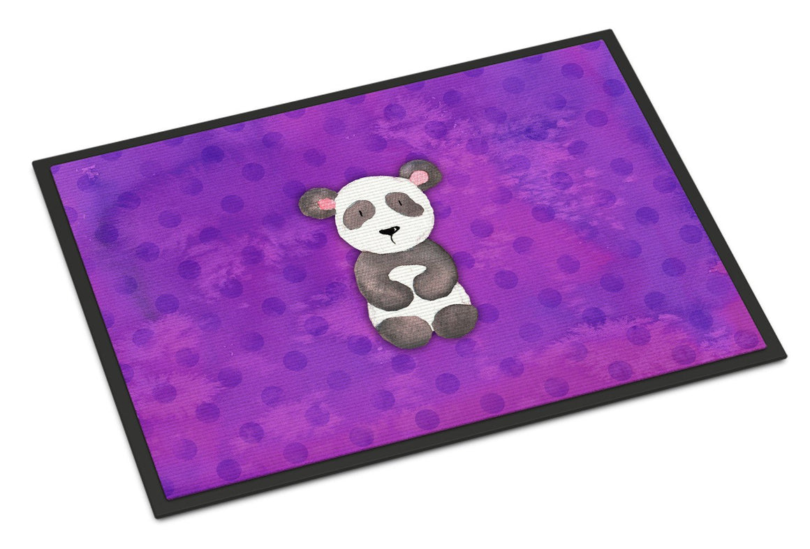 Buy this Polkadot Panda Bear Watercolor Indoor or Outdoor Mat 24x36 BB7375JMAT