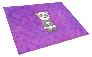 Buy this Polkadot Panda Bear Watercolor Glass Cutting Board Large BB7375LCB