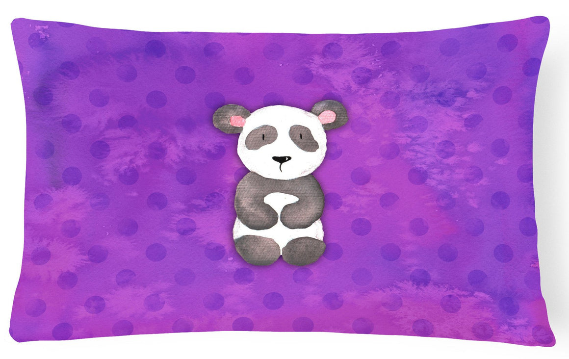 Buy this Polkadot Panda Bear Watercolor Canvas Fabric Decorative Pillow BB7375PW1216