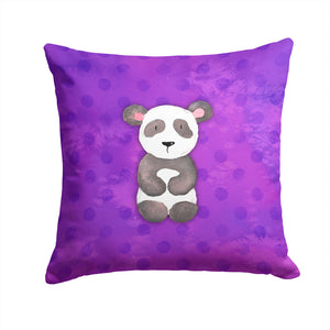 Buy this Polkadot Panda Bear Watercolor Fabric Decorative Pillow BB7375PW1414
