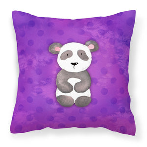 Buy this Polkadot Panda Bear Watercolor Fabric Decorative Pillow BB7375PW1818