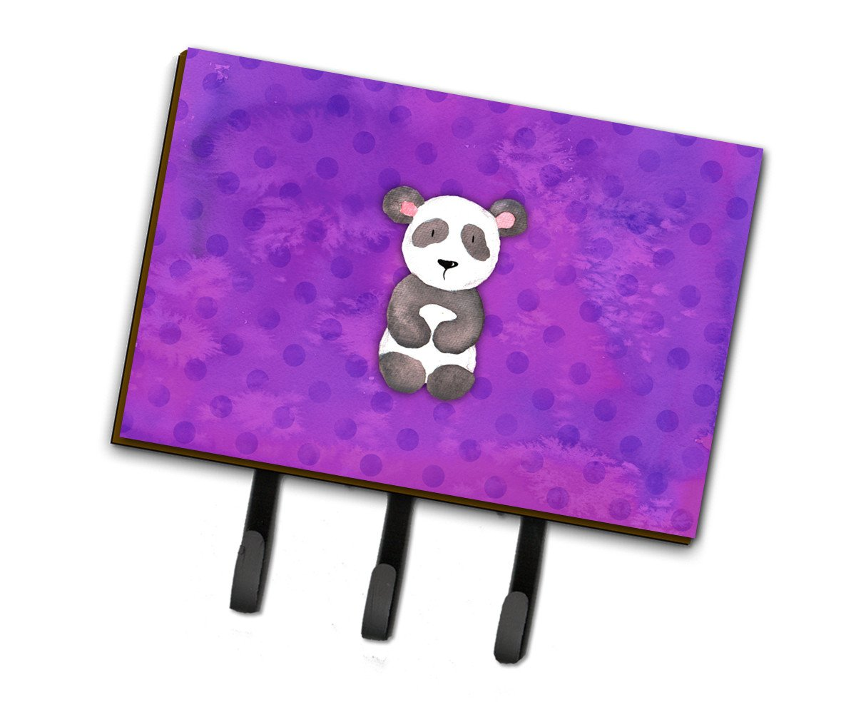 Polkadot Panda Bear Watercolor Leash or Key Holder BB7375TH68 by Caroline's Treasures