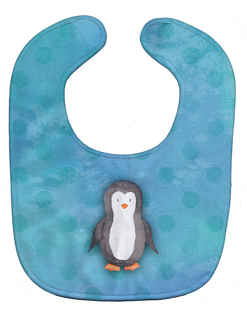 Buy this Polkadot Penguin Watercolor Baby Bib BB7376BIB